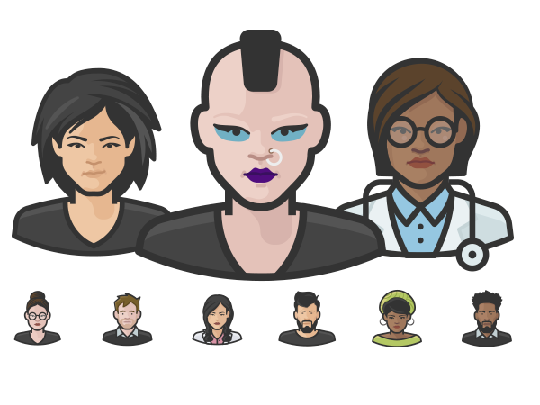 Preview of Diversity Avatars Icons