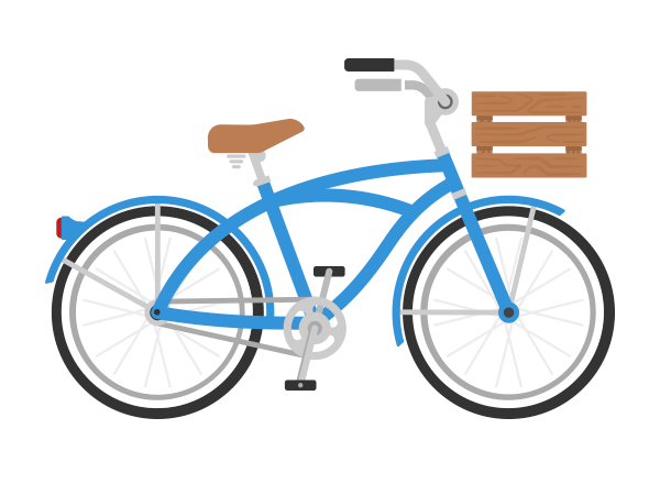 Preview of 15 Bike Icons in Flat Style