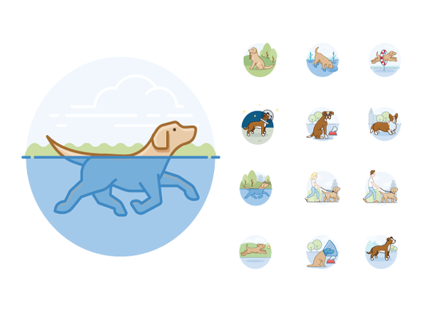 Preview of 12 Dog Activities Icons