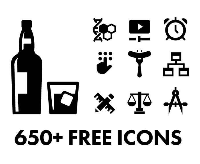 650 Free Vector Icons